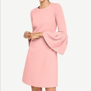 Ann Taylor Bell Sleeve Dress Blush Pink